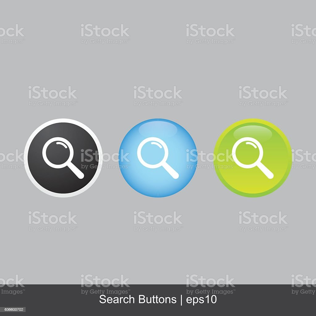 Search Buttons vector art illustration