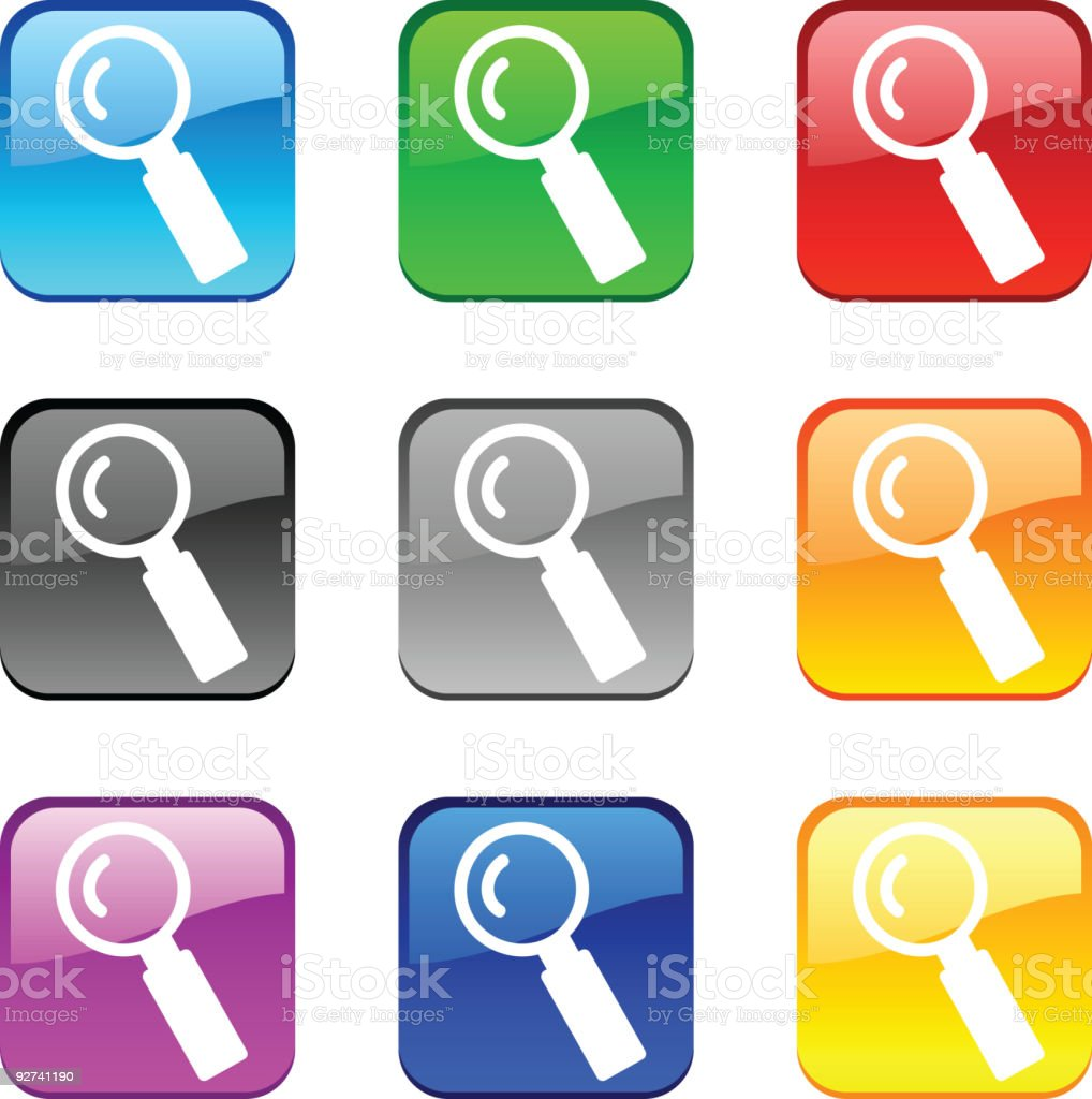 Search buttons. royalty-free stock vector art