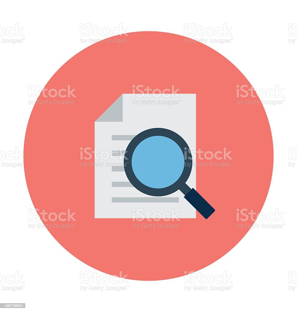 Search Document Colored Vector Illustration vector art illustration