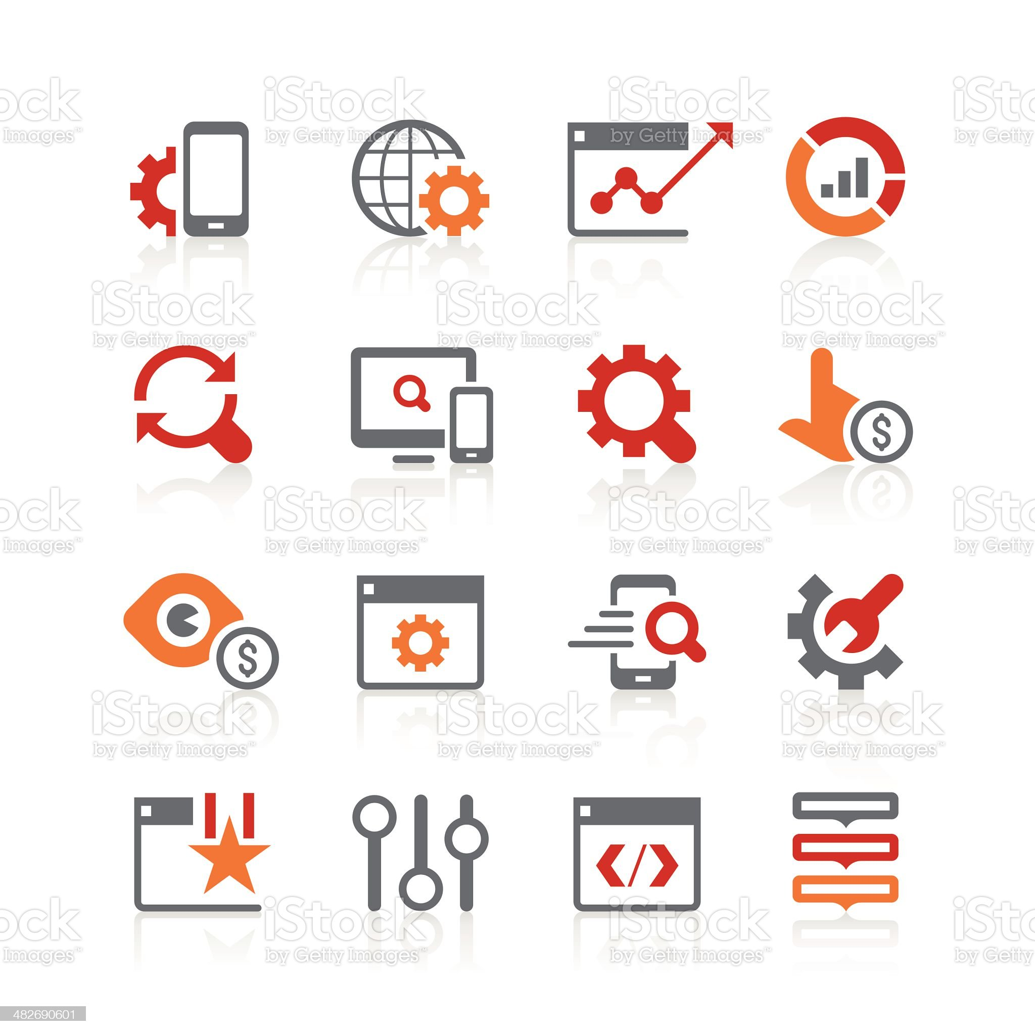 search engine optimisation icons | alto series royalty-free stock vector art