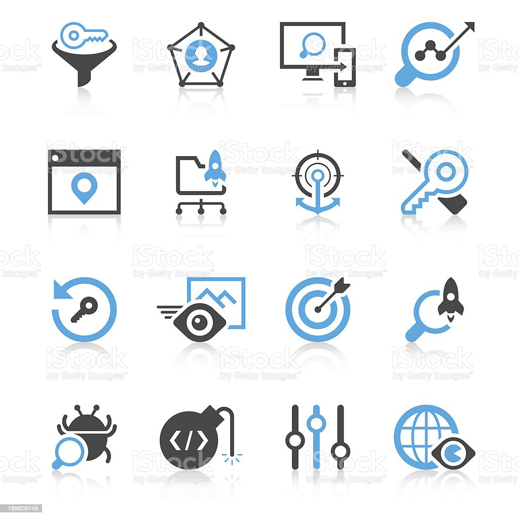 Search engine optimization | Concise Series royalty-free stock vector art