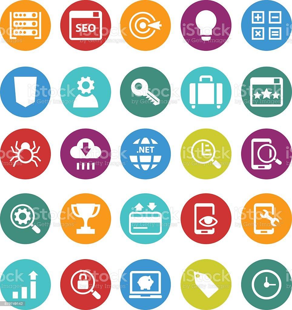 Search Engine Optimization icons vector art illustration