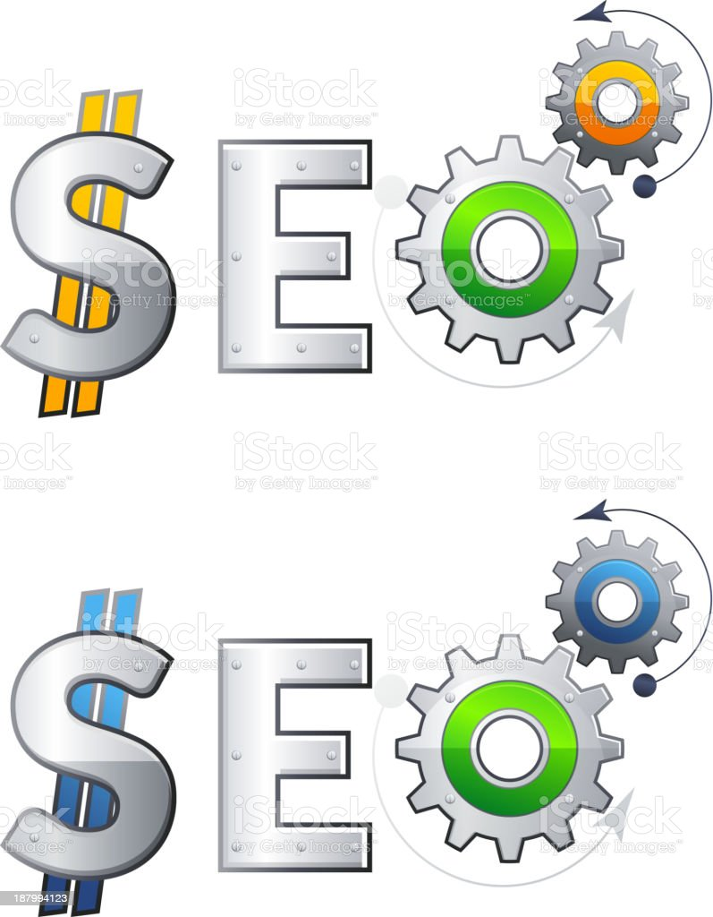 SEO - Search Engine Optimization royalty-free stock vector art