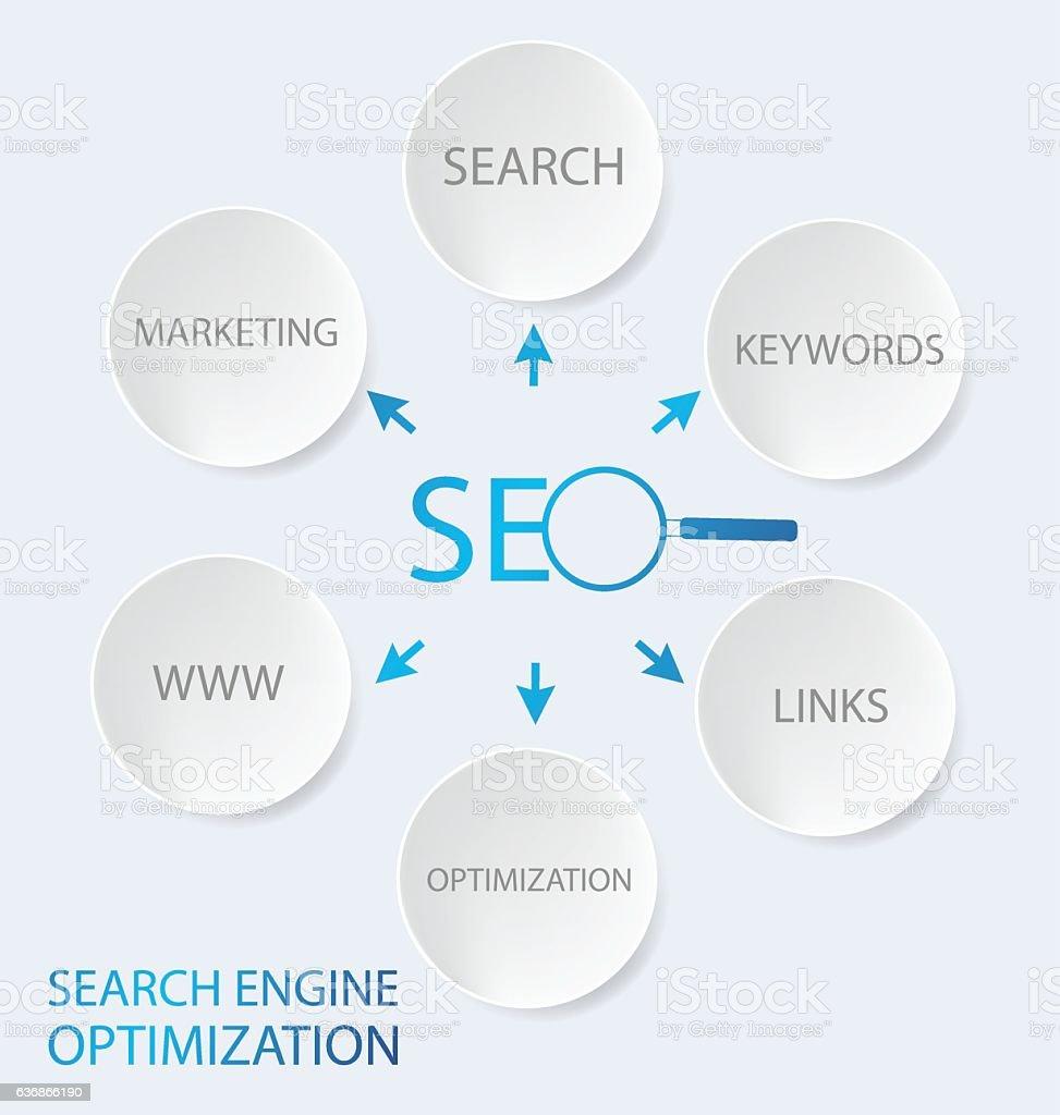 search engine optimization. vector Illustration. vector art illustration
