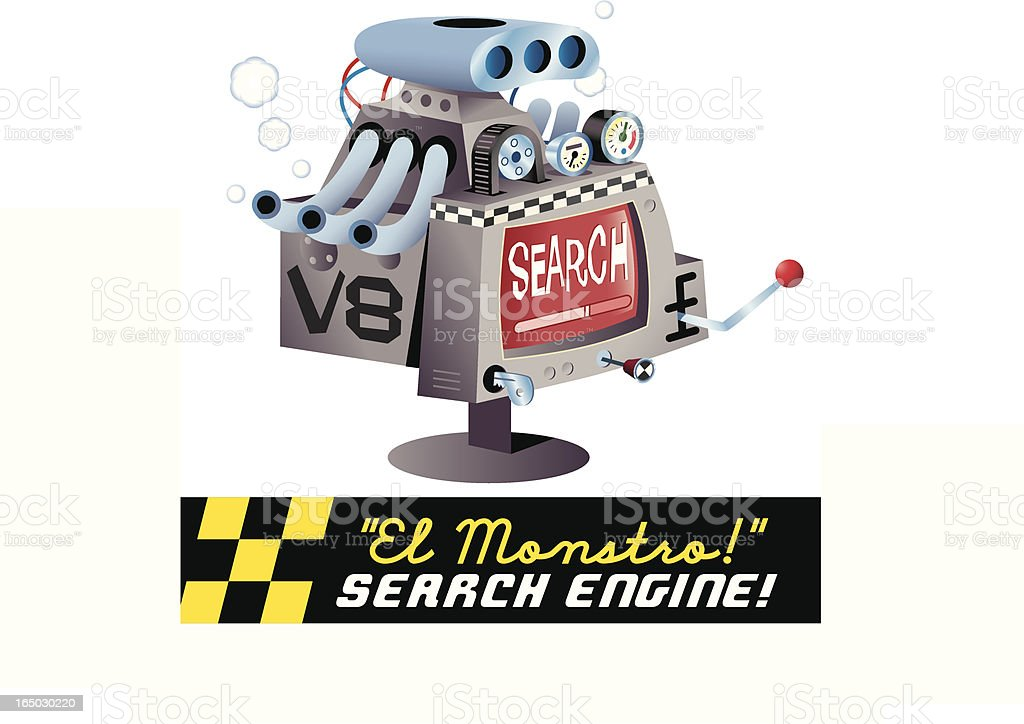 V8 Search Engine royalty-free stock vector art