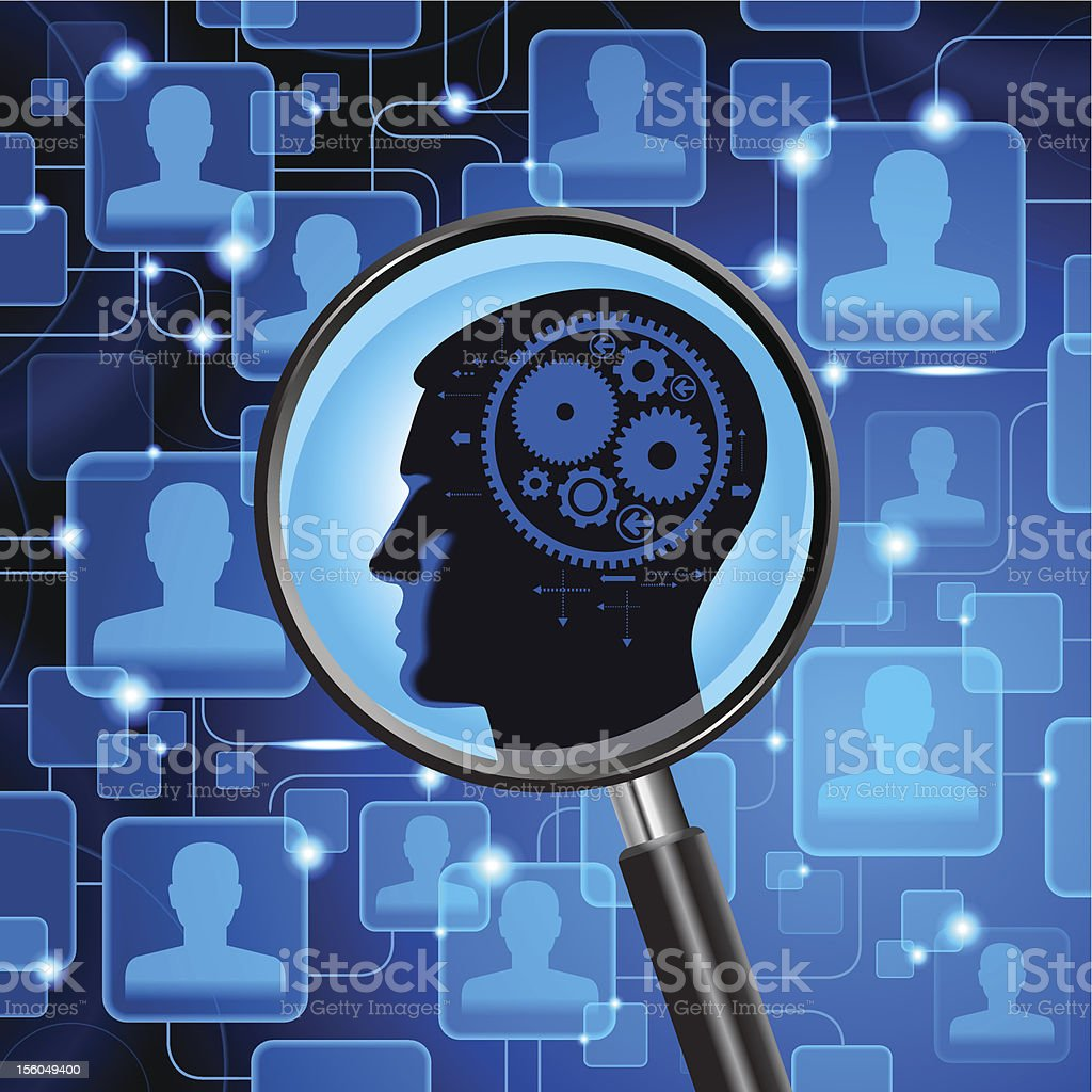 search for a person in computer network royalty-free stock photo