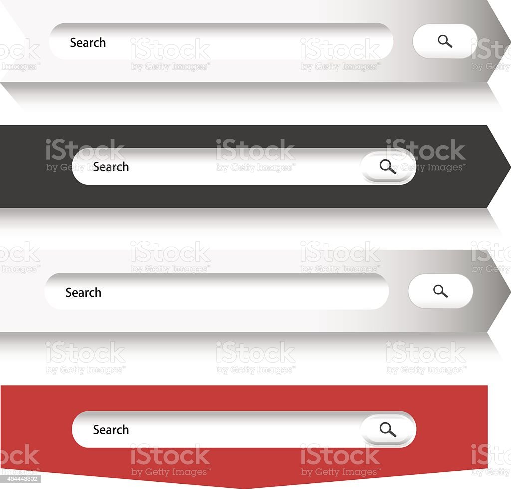 Search form vector art illustration