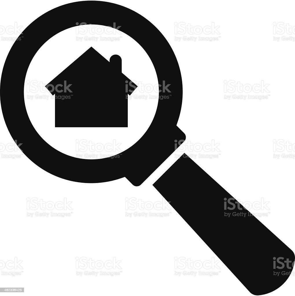 Search home icon royalty-free stock vector art