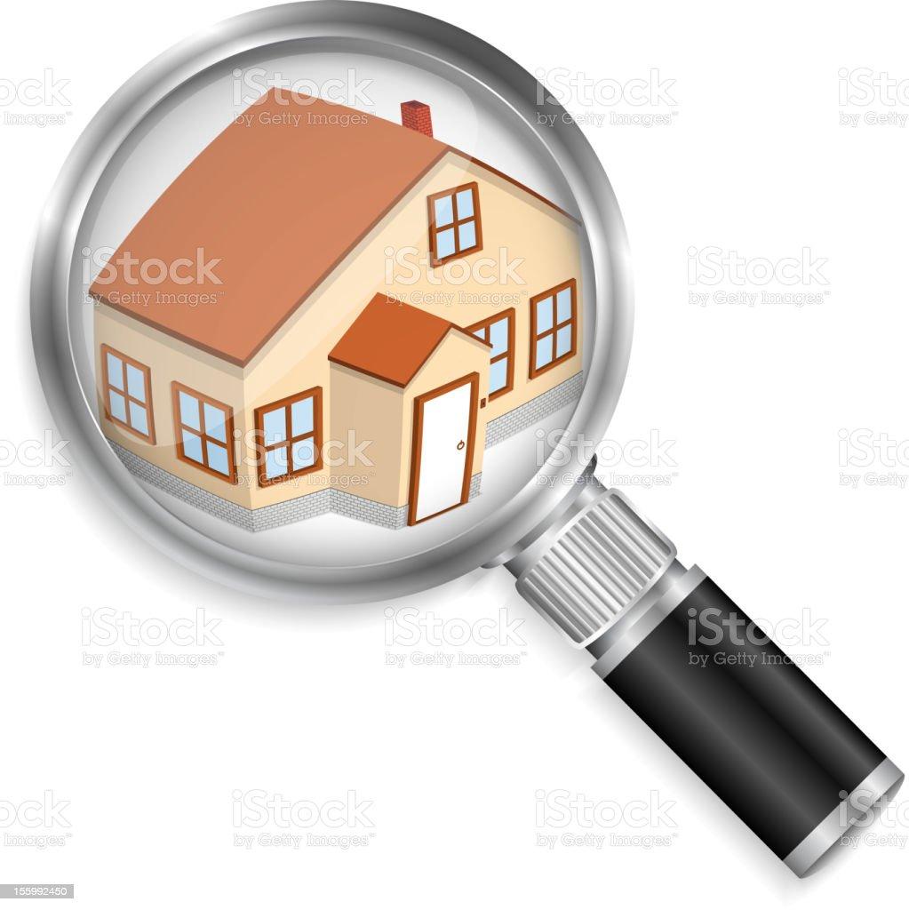 Search house vector art illustration