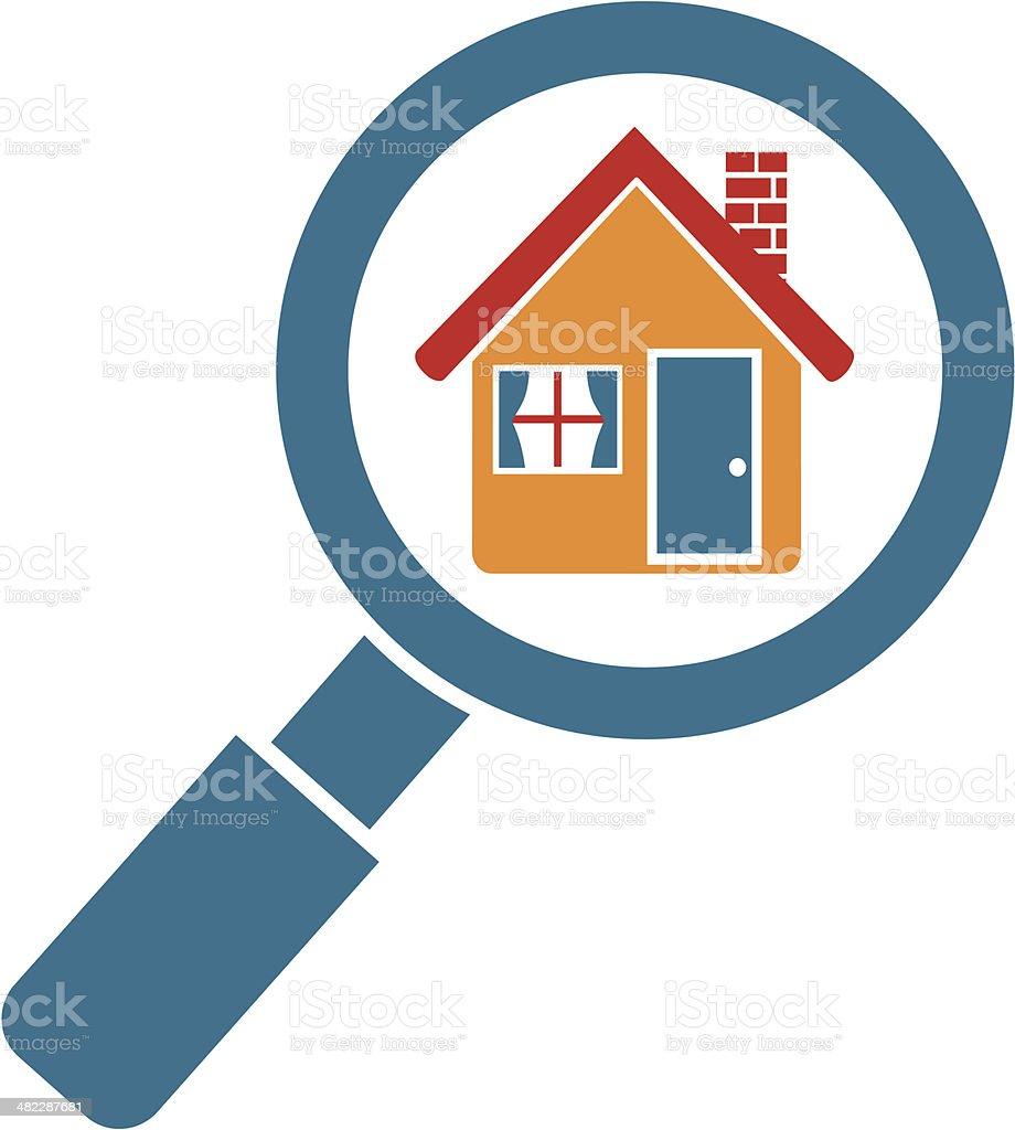 search houses online vector art illustration