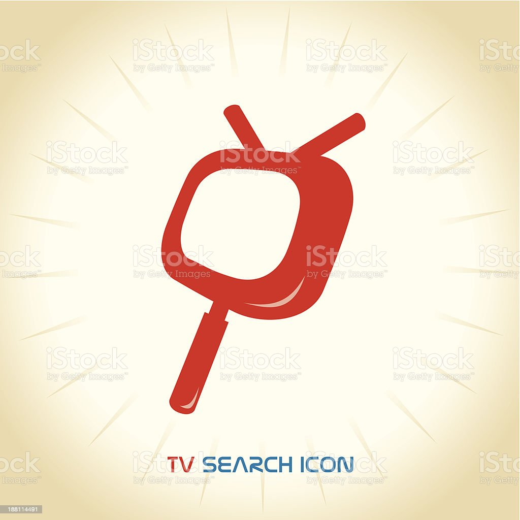 TV Search Icon royalty-free stock vector art