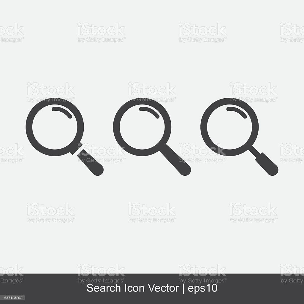 Search Icon Vector vector art illustration