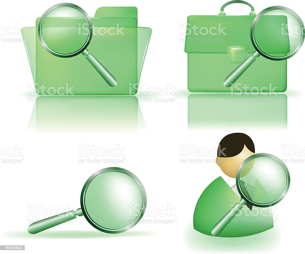 search icons royalty-free stock vector art