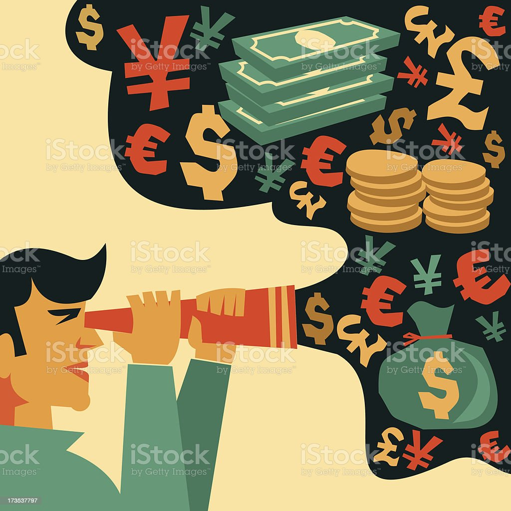search of money royalty-free stock vector art