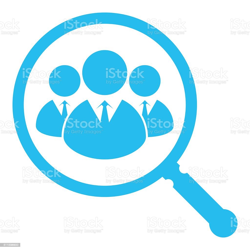 Search Professionals vector art illustration