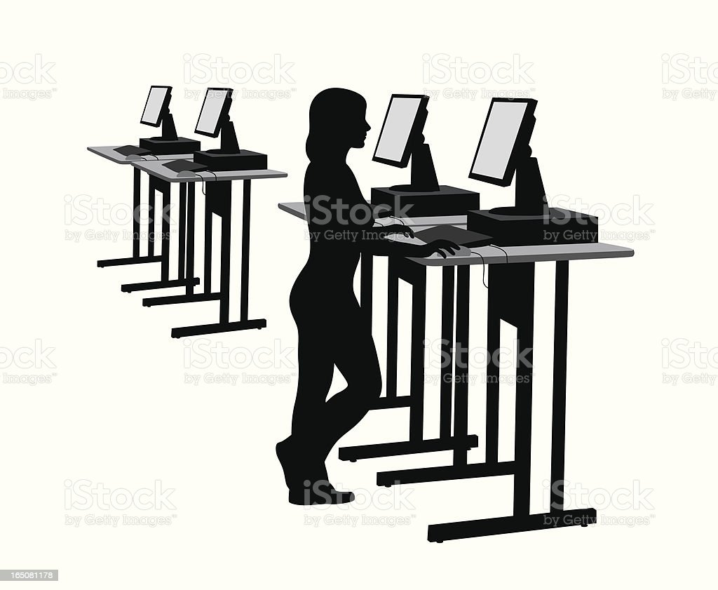 Search Vector Silhouette royalty-free stock vector art