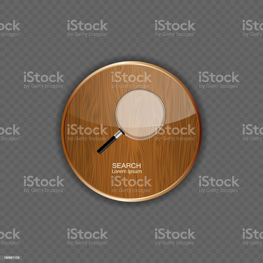 Search wood application icons royalty-free stock vector art