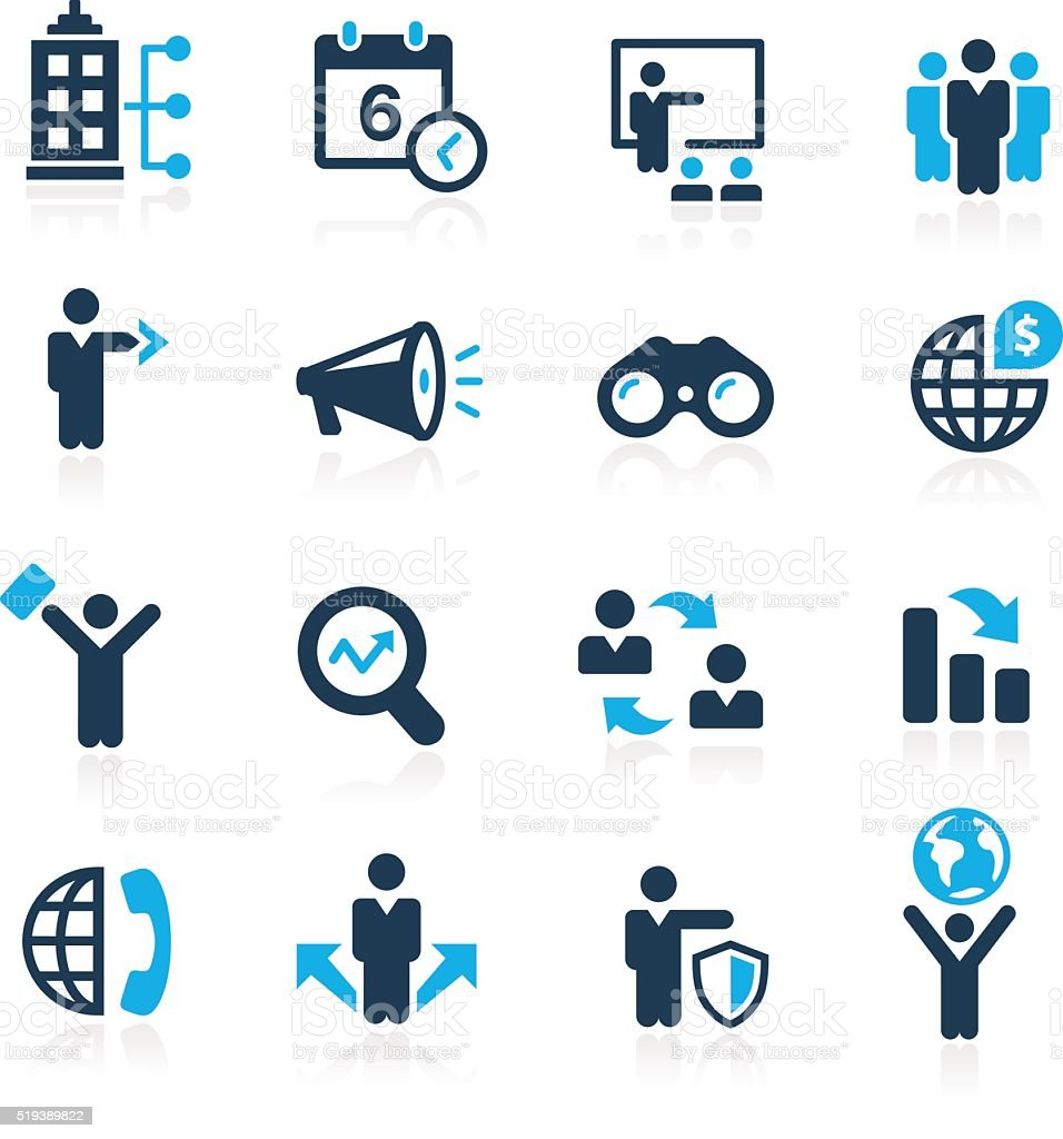 Searching Business Strategies - Azure Series vector art illustration