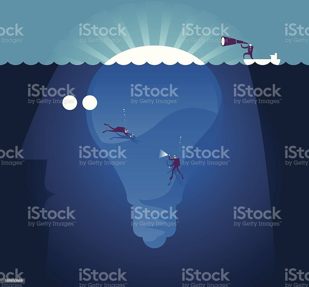 Searching Concept royalty-free stock vector art