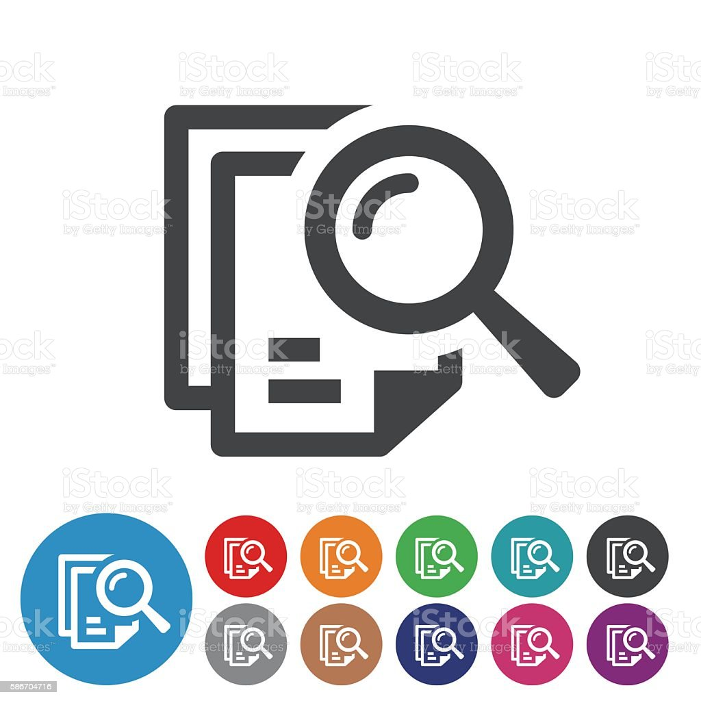 Searching Documents Icons - Graphic Icon Series vector art illustration
