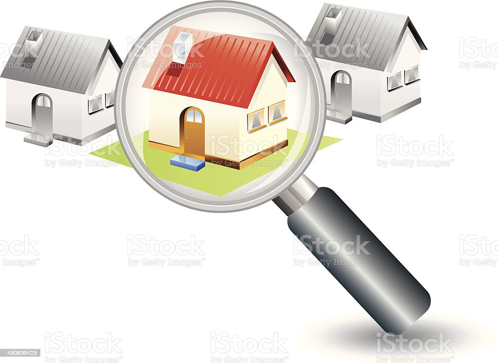Searching for a new home concept royalty-free stock vector art