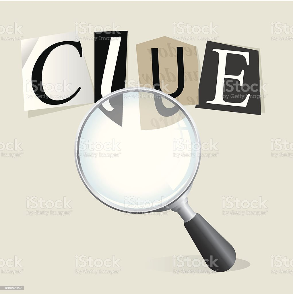 Searching for Clues royalty-free stock vector art