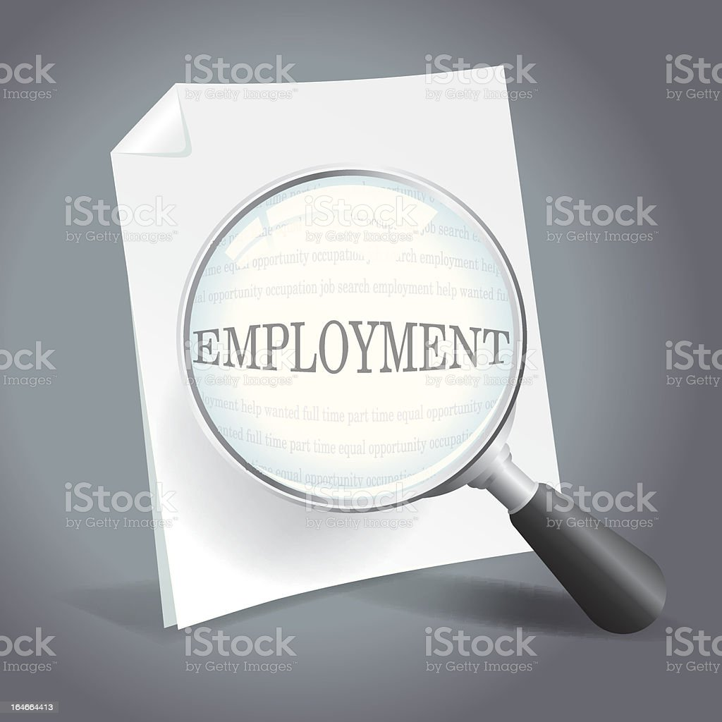 Searching for Employment royalty-free stock vector art