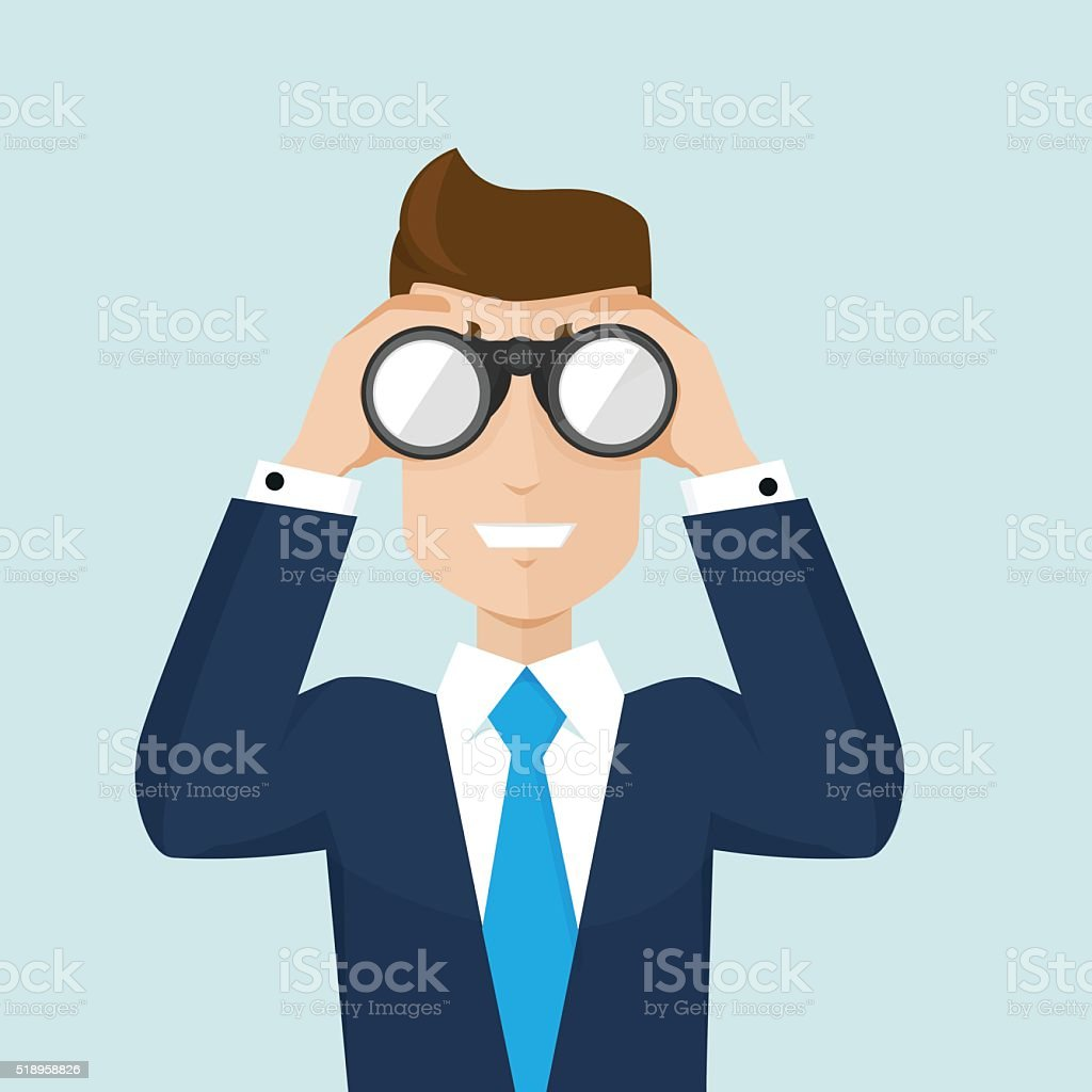 Searching for information vector art illustration