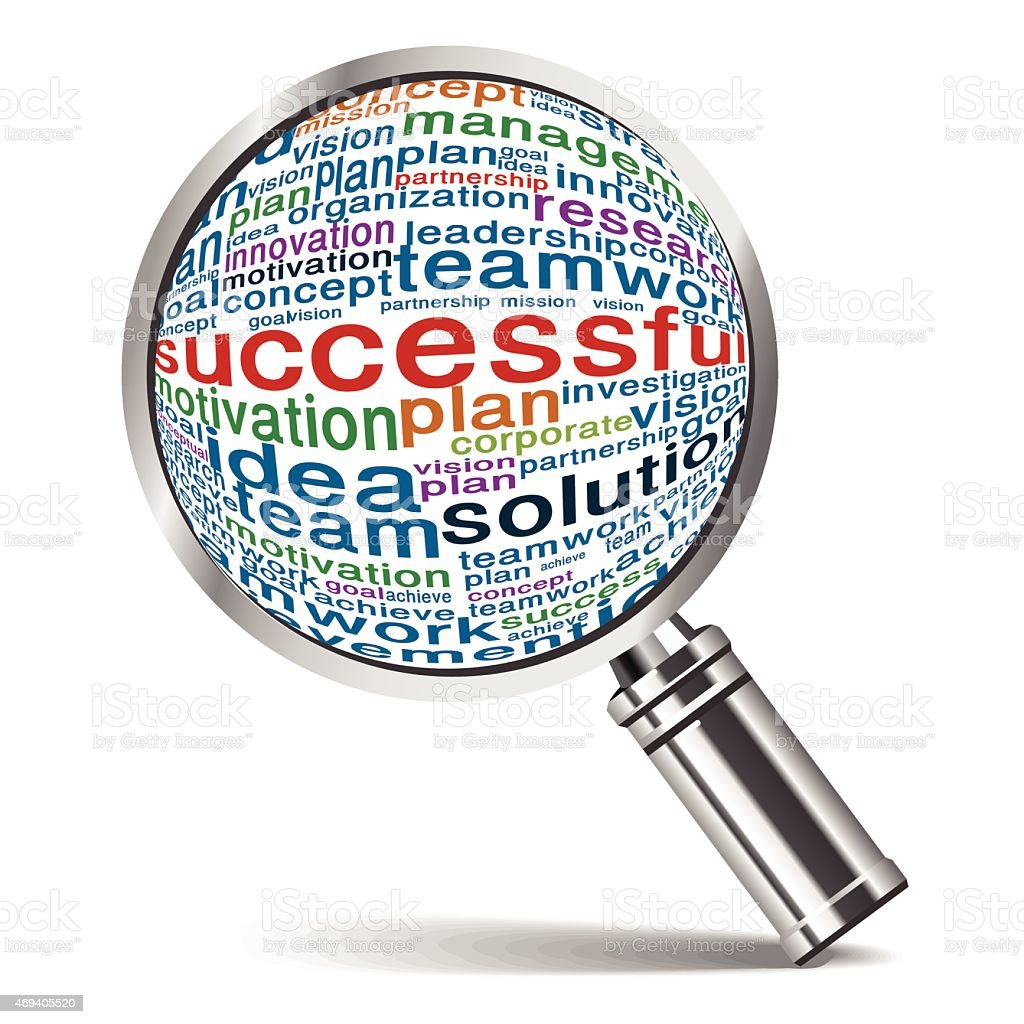 searching for success business vector art illustration