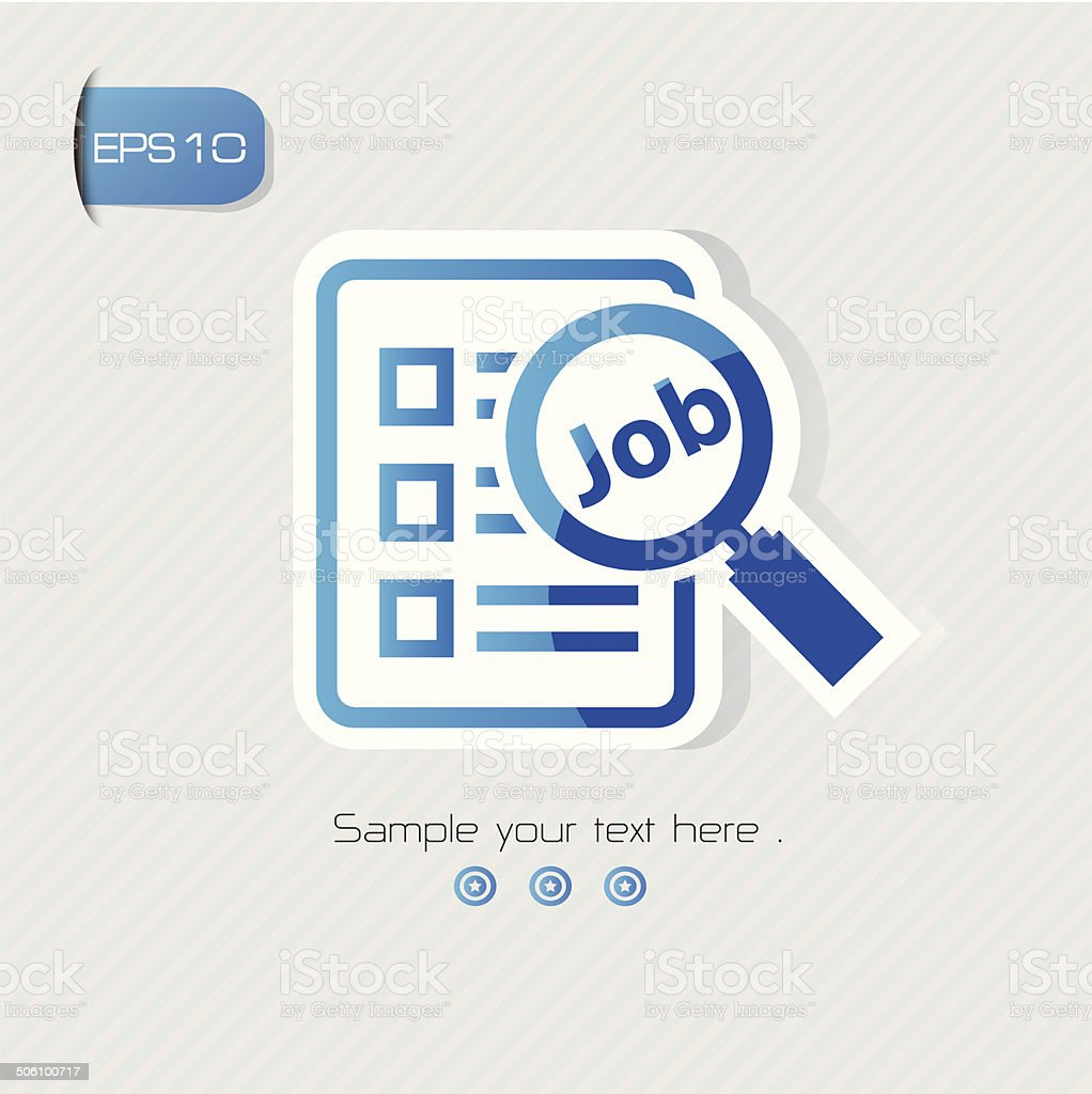 Searching job symbol,vector vector art illustration