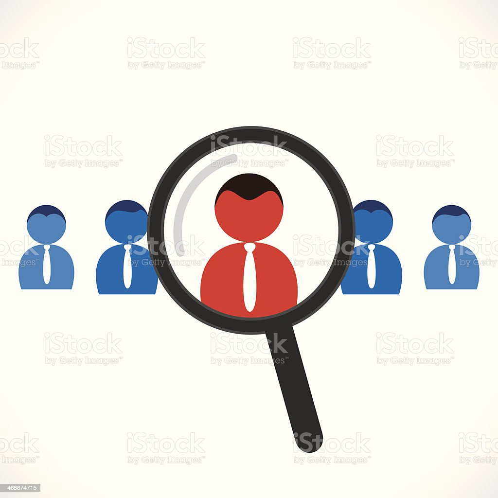 searching people for job vector art illustration