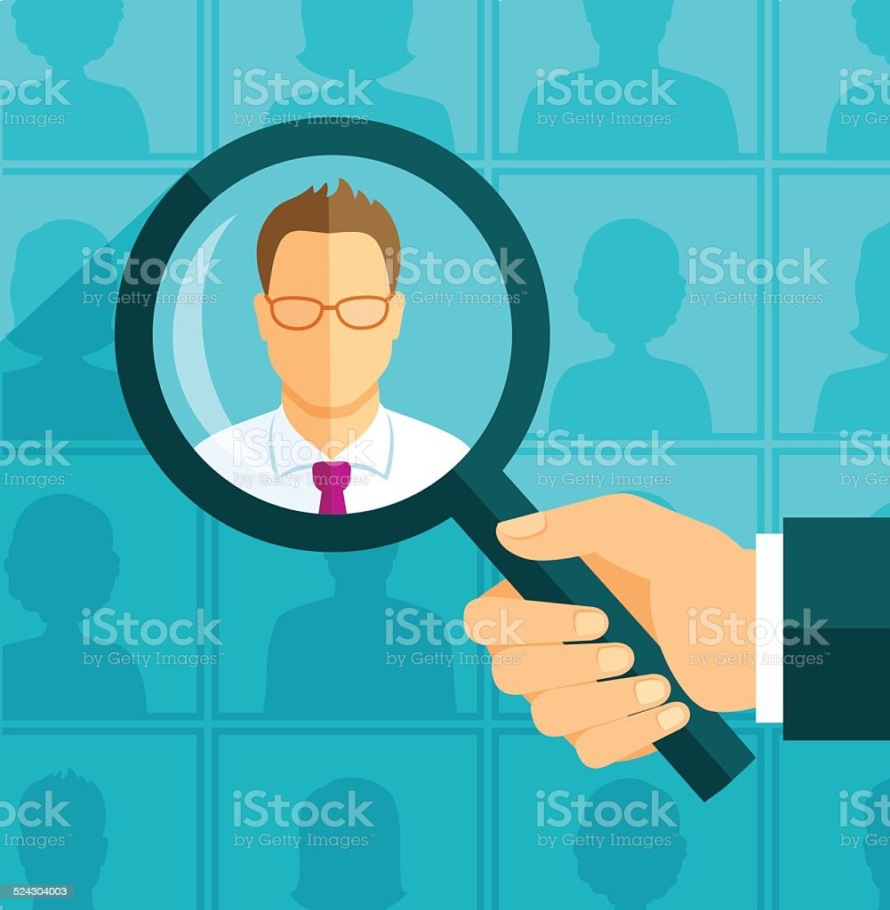 Searching person vector art illustration