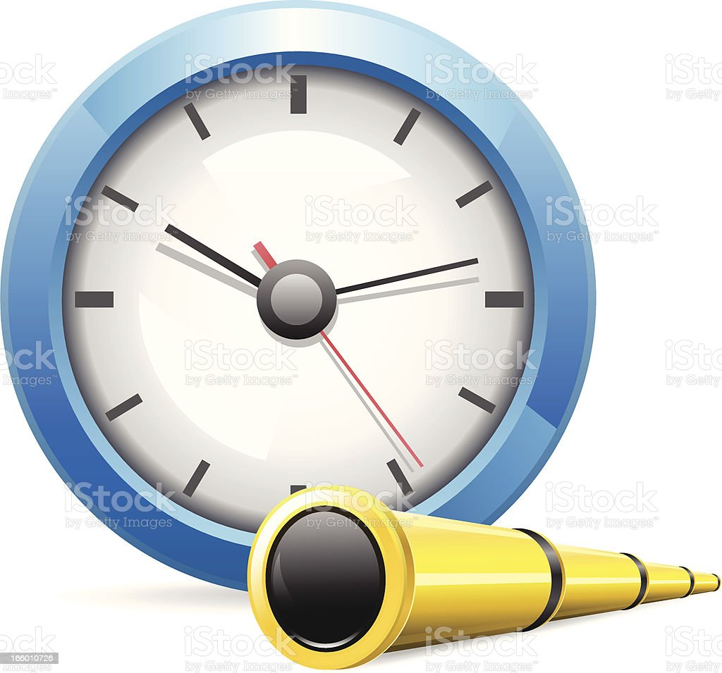 Searching Time royalty-free stock vector art