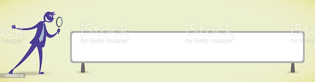 Searching royalty-free stock vector art