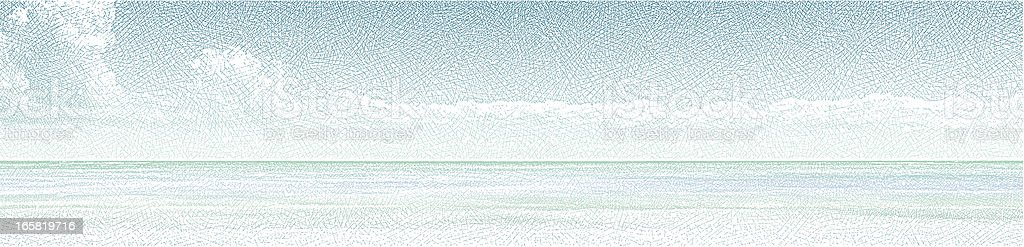 Seascape Panorama vector art illustration