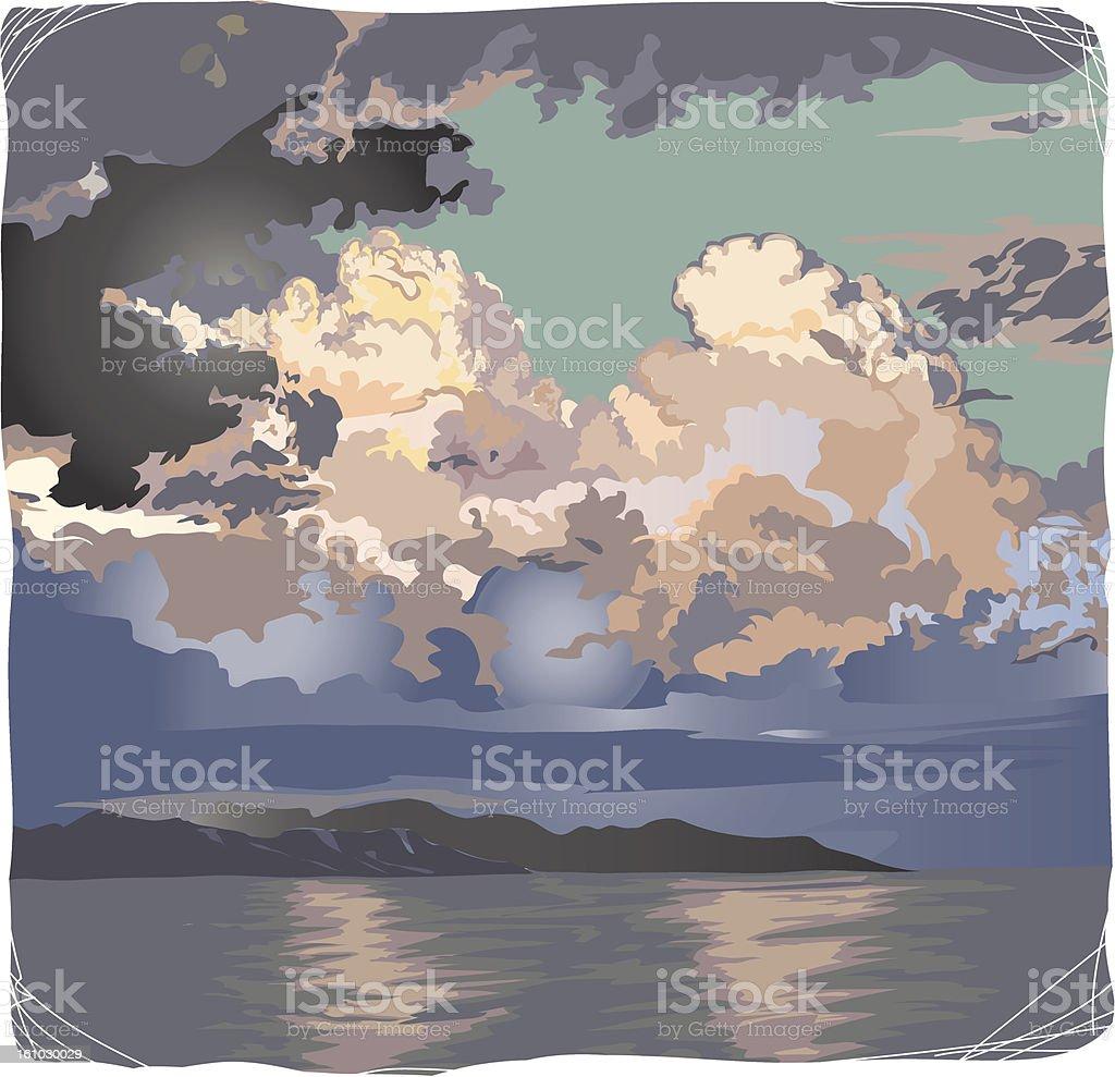 seascape royalty-free stock vector art