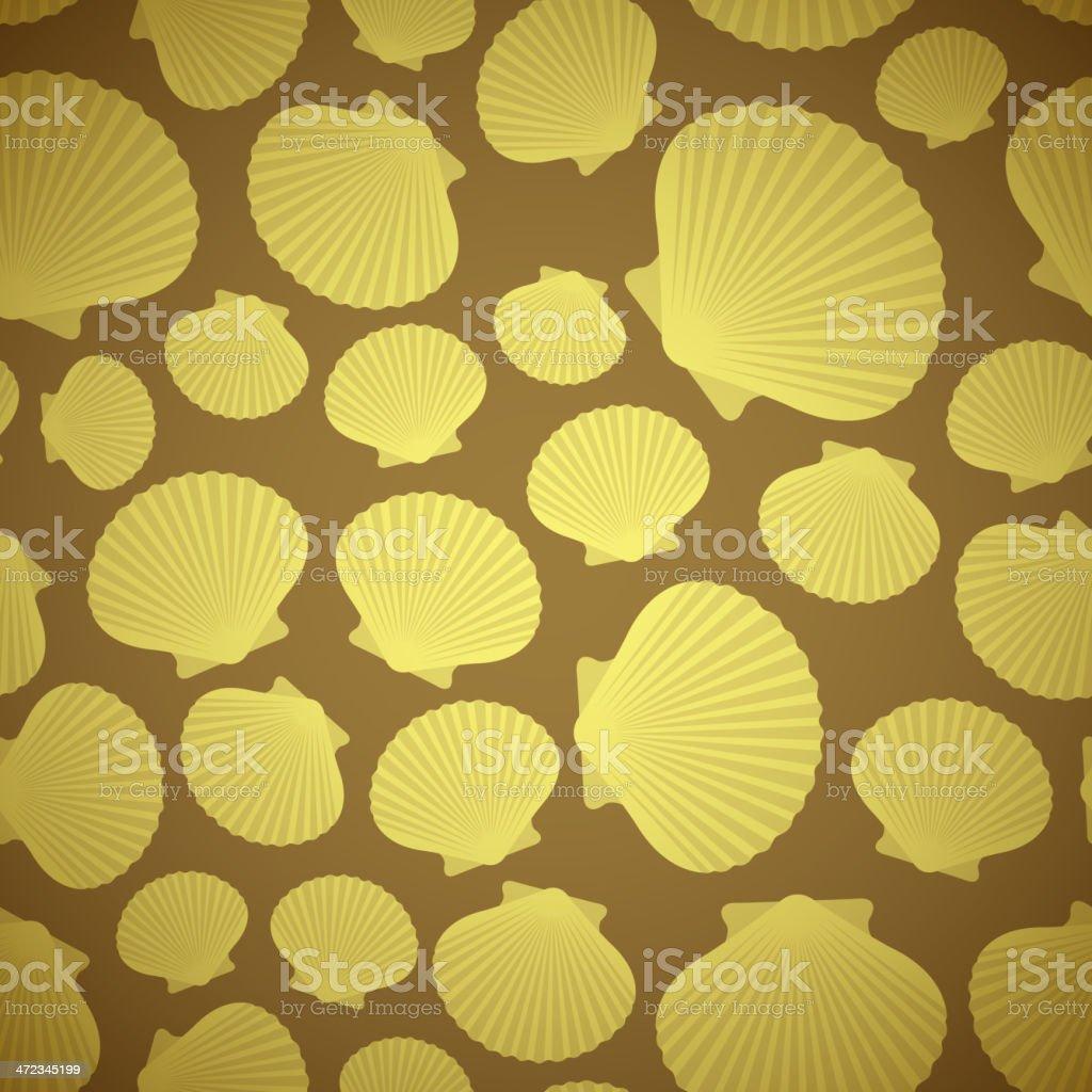 Seashell seamless pattern royalty-free stock vector art