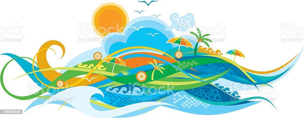 seaside background royalty-free stock vector art