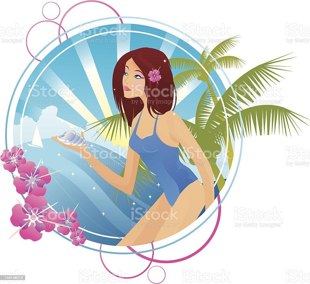 Seaside banner royalty-free stock vector art
