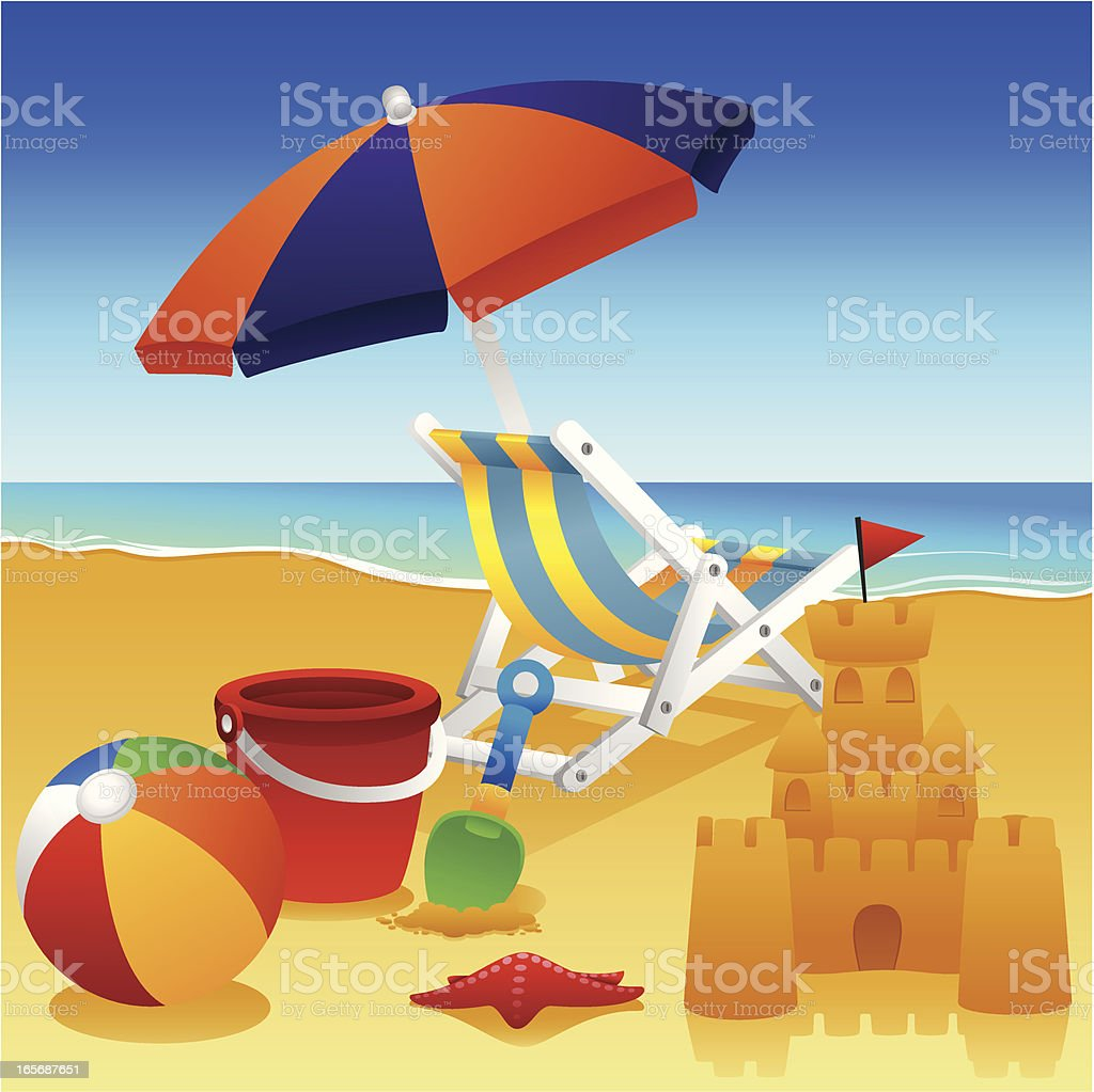 Seaside royalty-free stock vector art