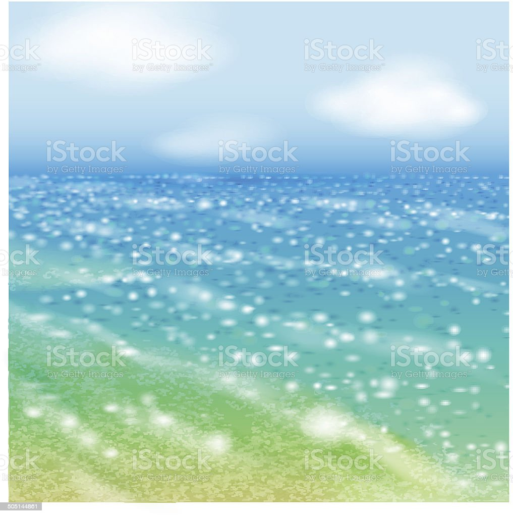Seaside. vector art illustration