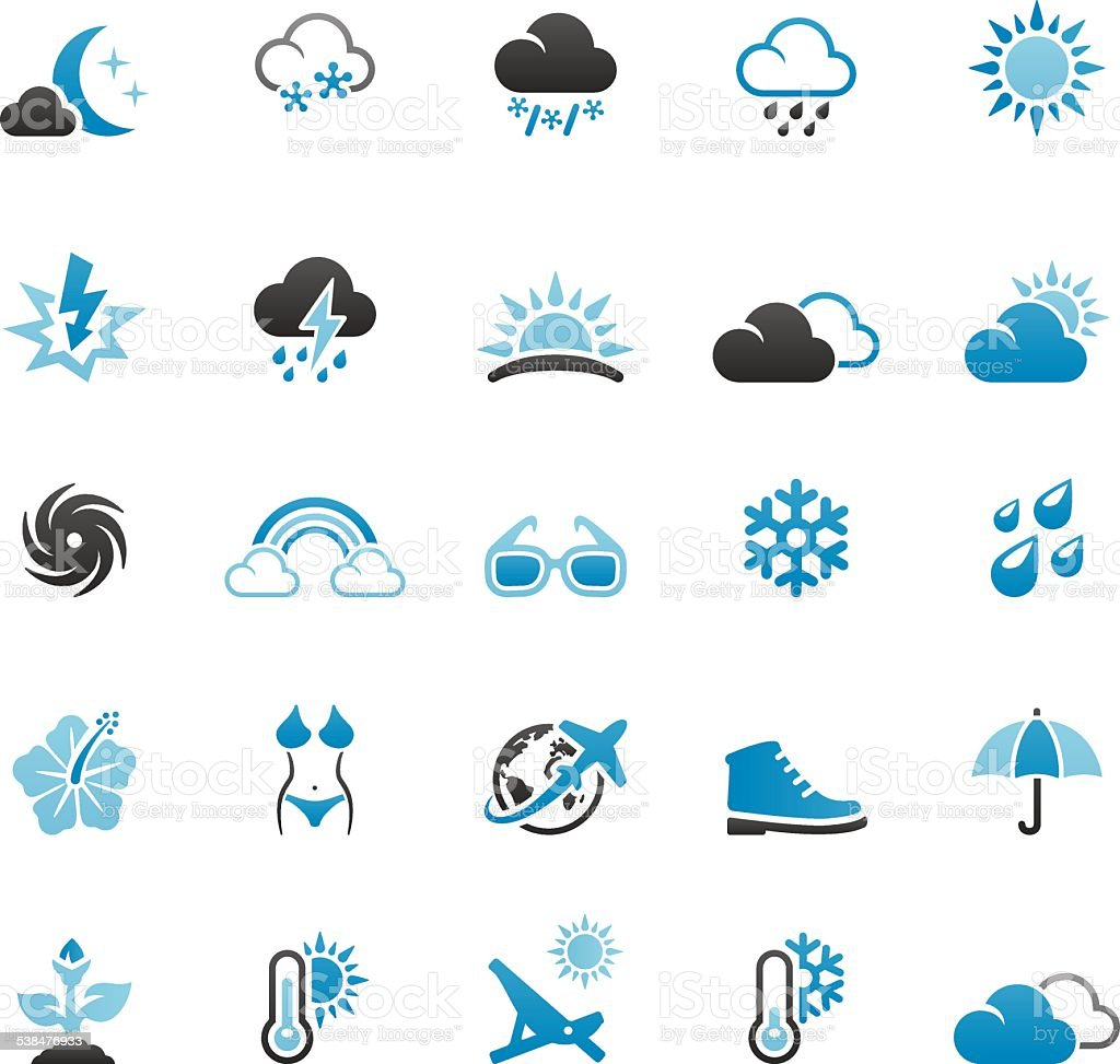 Season and Weather vector art illustration