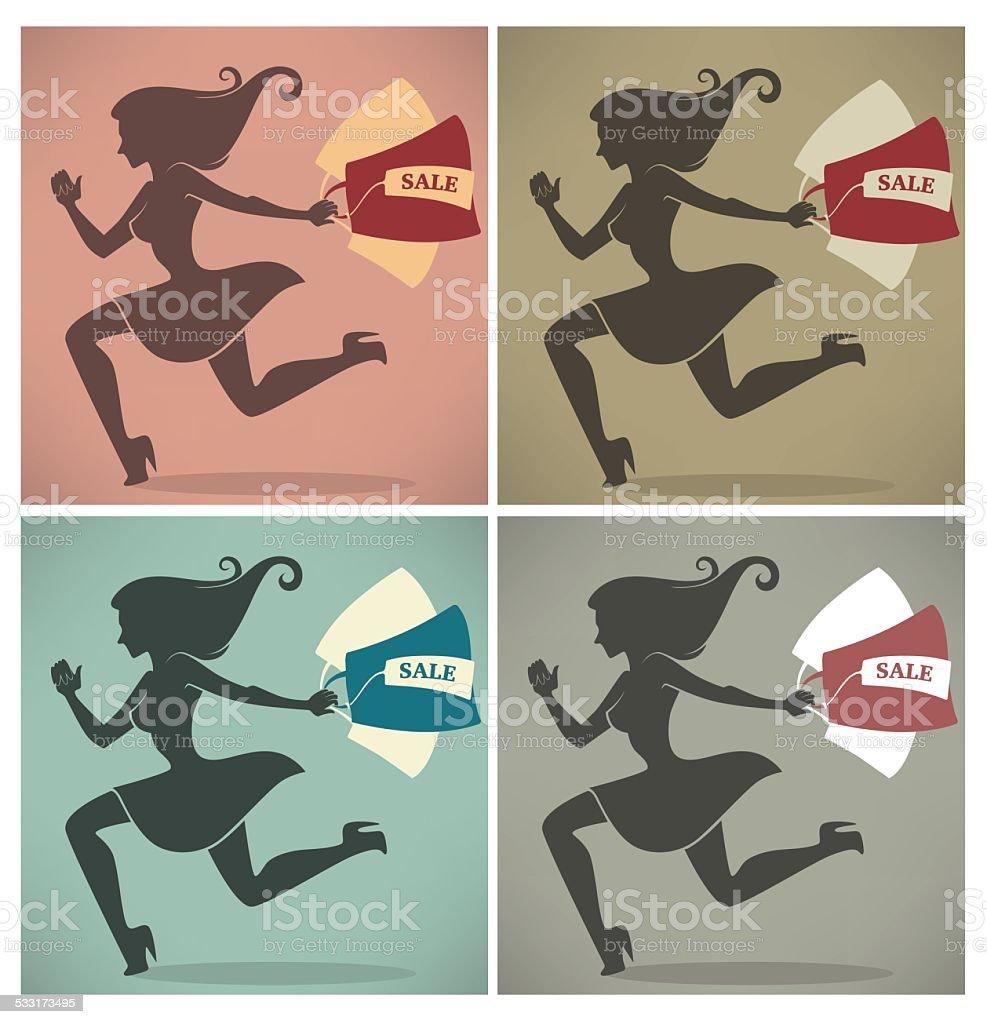season of shopping, vector commercial backgrounds vector art illustration