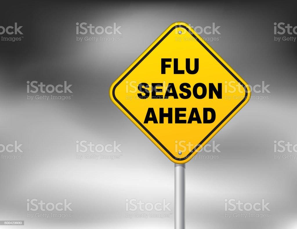 FLU season vector art illustration