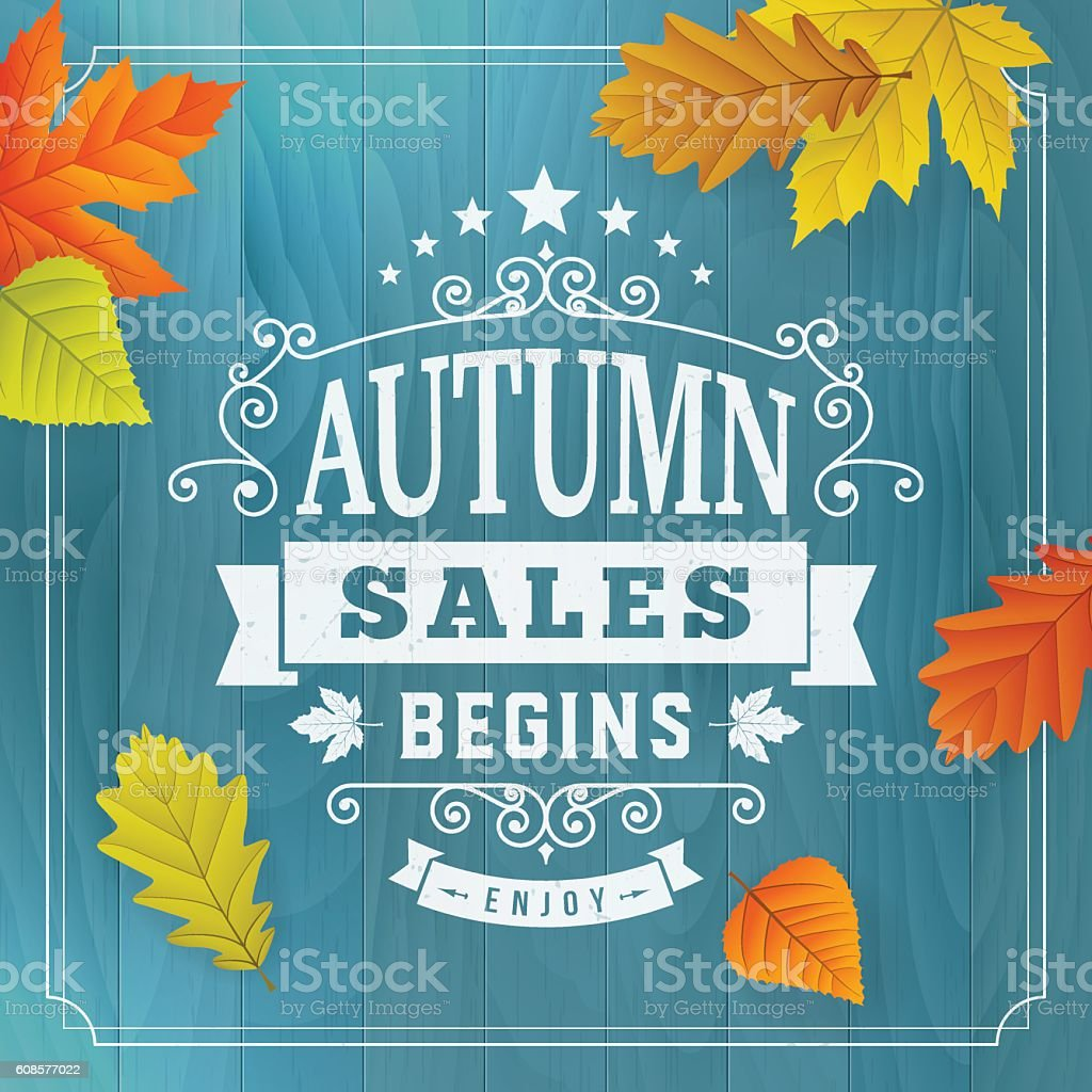 Seasonal autumn business sales background vector art illustration