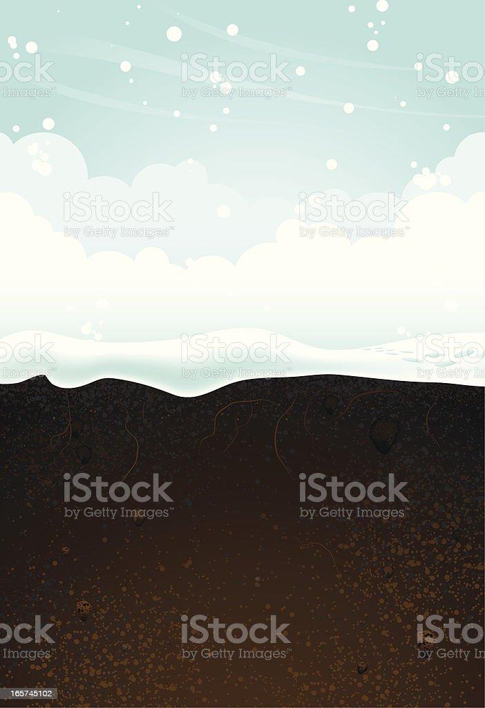 A seasonal background of winter vector art illustration