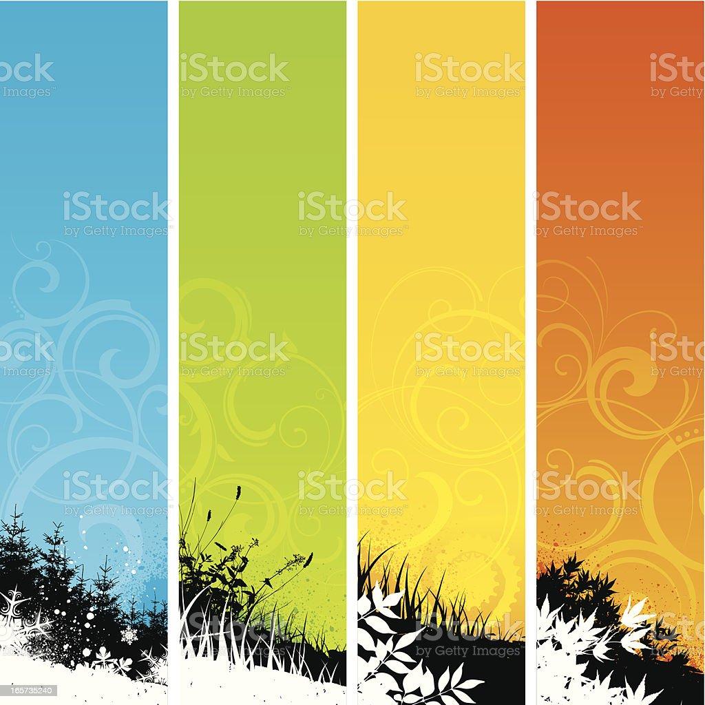 Seasonal background strips royalty-free stock vector art