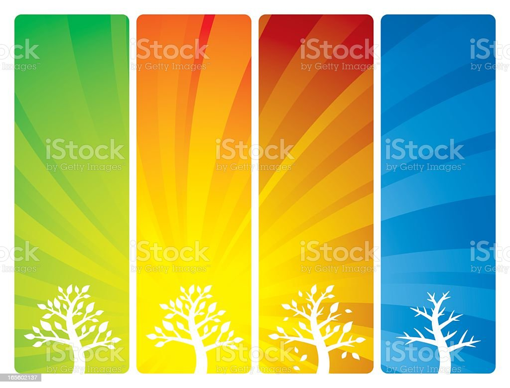 Seasonal Backgrounds vector art illustration