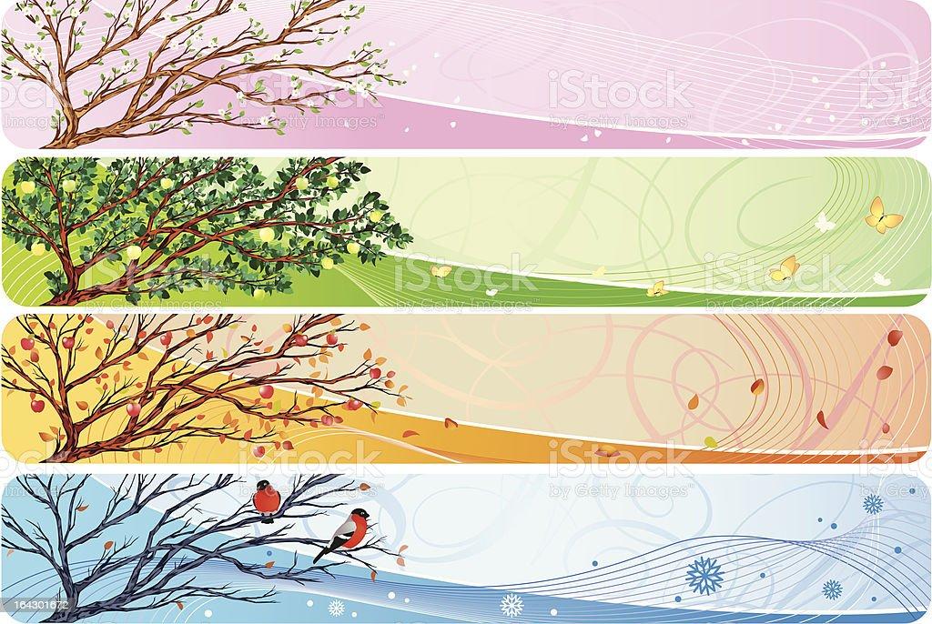 seasonal banner vector art illustration