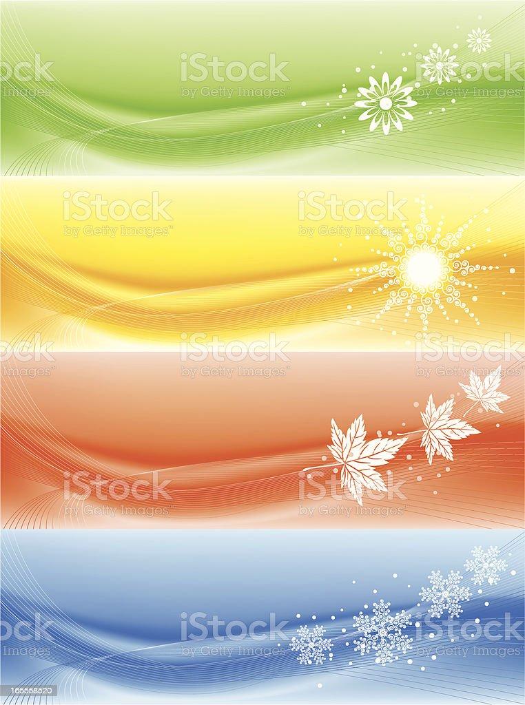 Seasonal banners royalty-free stock vector art